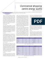 Commercial shopping mall energy audit