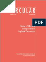 Factors Affecting Compaction of Asphalt Pavements