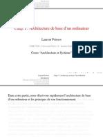 Cours 2 Architecture Ordinateur