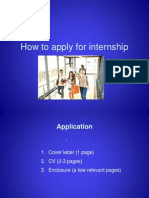 How to Apply for Internship