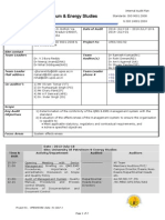 Internal Audit Schedule - 18,19 and 21 July 2014