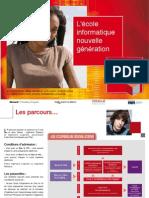 Plaquette de présentation de l'école informatique eXia.Cesi