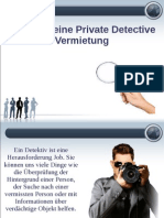 Tipps für eine Private Detective Vermietung