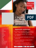 Affiche de présentation de l'école informatique eXia.Cesi