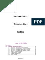 Technical Diary Turbine Ksk