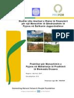 Studimi dhe Analizat e Risive të Financimit për një Menaxhim të Qëndrueshëm të Pyjeve në Ballkanin Jugperëndimor