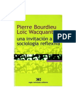 Bourdieu Una Invitacion Sociologia Reflexiva