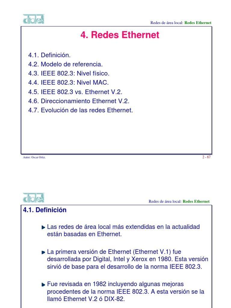 2.4 Redes Ethernet