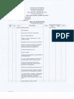 Bill of Quantities 2013