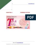 01 Number System Aptitude Trick-Book AptiDude