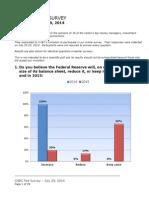 CNBC Fed Survey, July 29, 2014