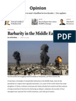 Barbarity in the Middle East