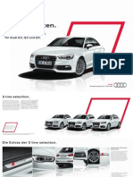 Audi S line Selection Catalogue A3 Q3 Q5 (Germany)