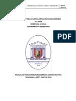 Manual de Procedimientos Academicos Administrativos