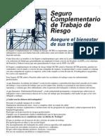 El Seguro Complementario de Trabajo de Riesgo