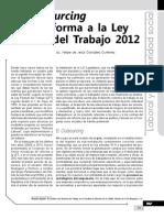 El Outsourcing en La Reforma a La Ley Federal Del Trabajo 2012