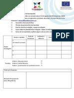 Formulario de Inscripción - Convocatoria Investigadores Jóvenes