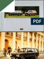 Brochure3829 Land Rover Range Rover 1994