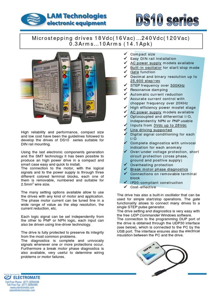 LAM DS10 Brochure | Power Supply | Bipolar Junction Transistor