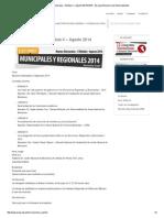 Martes Electorales – Módulo II – Agosto 2014 ESEG - Escuela Electoral y de Gobernabilidad