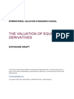 IVSC Valuation of Equity Derivatives ED