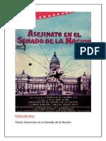 Asesinato en El Senado de La Nacion