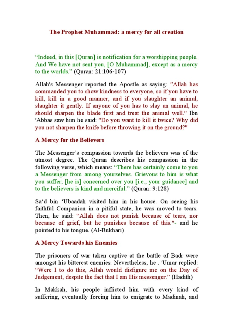 The Prophet Muhammad   Prophets And Messengers In Islam