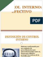 Control Interno-Efectivo y Flujo de Caja