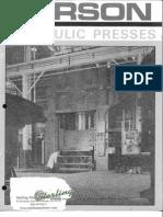 Verson Hydraulic Presses Brochure
