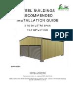 Fair Dinkum Steel Buildings Recommended Installation Guide - Tilt Up Method
