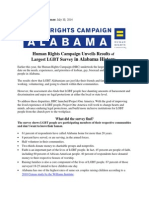 HRC Alabama Project Once America Survey Fact Sheet