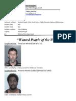 Wanted People of the Week-White, Cobbs, Denardo, Espinosa & Mousseau