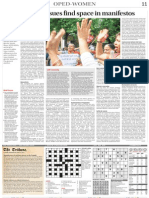 Vibhuti Patel,The Tribune Gender Issues Find Space in Manifestos 15 April 2014page-11