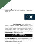 Acao Despejo Alienacao Imovel Durante Locacao Art 8 Inquilinato Modelo 311 BC247