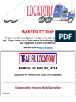 Wanted to Buy Bulletin - July 30, 2014