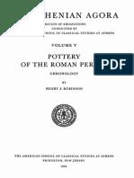 Robinson - The Athenian Agora ~ Pottery of the Roman Period