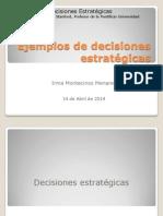 Ejemplos de Decisiones Estratégicas IMM