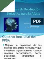 Programa de Producción Sintáctica para la Afasia