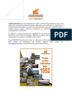 Tecnoguia de Productos de Tecnoconcret.