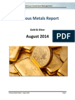 Lighthouse Precious Metals Report - 2014 - August