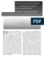 2011 Issue 4 - Difficulties About Baptism Part 2 - Counsel of Chalcedon