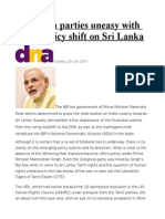 Dravidian Parties Uneasy With BJP's Policy Shift on Sri Lanka