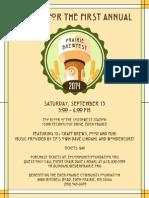 EPCF Prairie Brewfest Poster