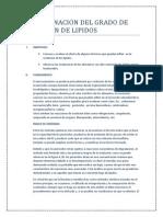 Determinacion Del Grado de Oxidacion de Lipidos