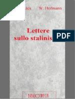 Giorgy Lukacs - Lettere sullo stalinismo