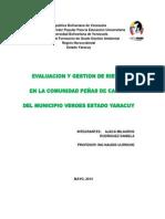 Evaluacion y Gestion de Riesgo de La Comunidad Peñas de Cabria