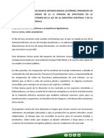 29-07-14 Palabras Marco Bernal - Presentación Industria Eléctrica y Energía Geotérmica