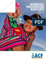 Action Against Hunger Annual Progress Report 2013