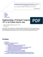 Principal Component Analysis Step by Step