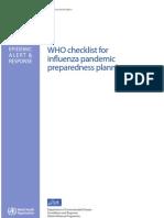 WHO CDS CSR GIP web OMS Lista Comprobacion Para Pandemia Gripe Planificacion Preparacion